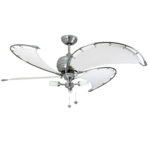 Fantasia spinnaker 52 inch pull cord stainless steel ceiling fan fantasia spinnaker 52 inch pull cord stainless steel ceiling fan with white canvas blades and sparta light kit mozeypictures Images