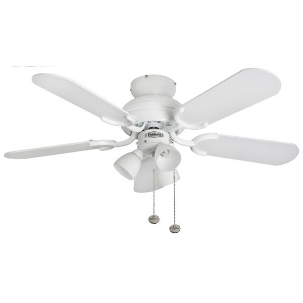 Fantasia Amalfi 36 Inch Pull Cord Gloss White Ceiling Fan