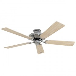 Fantasia Riviera 52 inch Pull Cord Stainless Steel Ceiling Fan with Reversible Washed Oak/Silver Blades