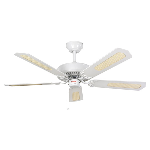 Ceiling Fans With Electrical Cords : Fantasia classic inch pull cord gloss white ceiling fan