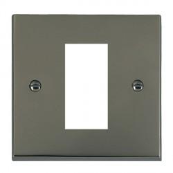 Hamilton Victorian EuroFix Plates Black Nickel Single Plate c/w 1 EuroFix Apertures + Grid