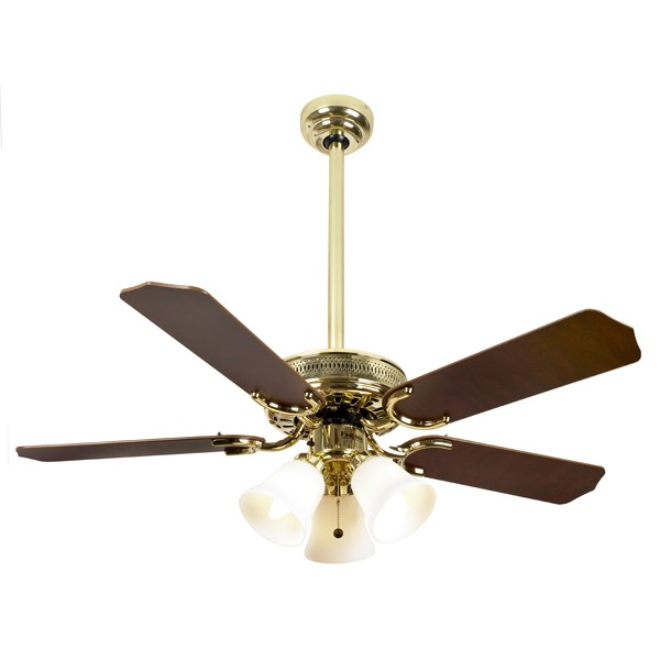 Ceiling Fans With Electrical Cords : Fantasia vienna inch pull cord polished brass drop