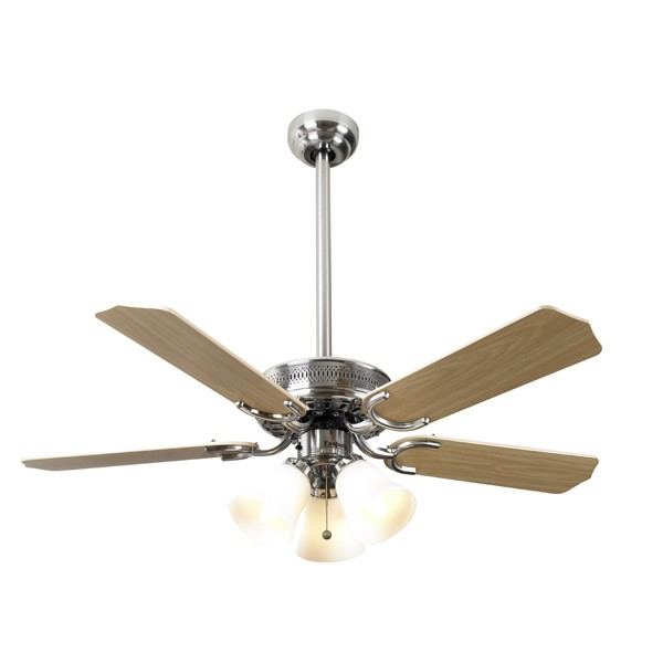 Ceiling Fans With Electrical Cords : Fantasia vienna inch pull cord stainless steel drop