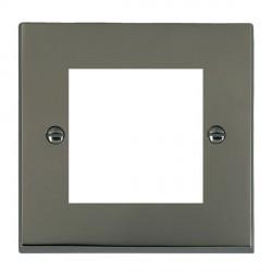 Hamilton Victorian EuroFix Plates Black Nickel Single Plate c/w 2 EuroFix Apertures + Grid
