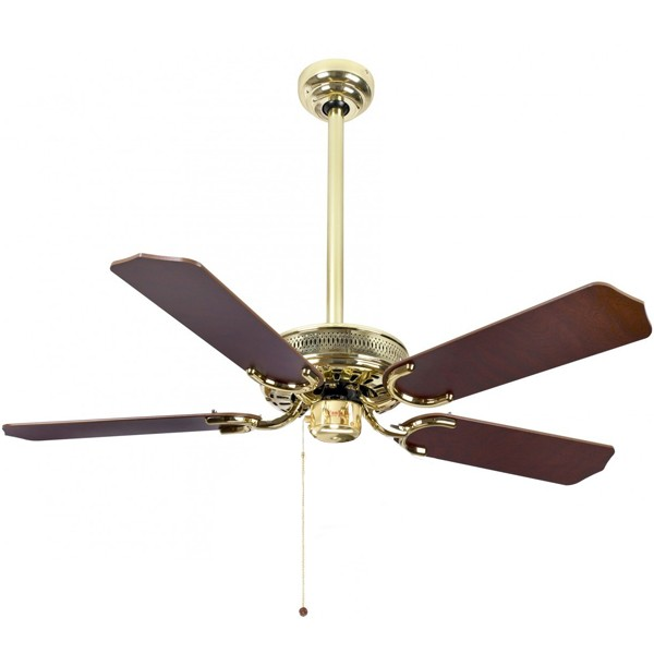Drop Ceiling Ceiling Fan : Fantasia vienna inch pull cord polished brass drop