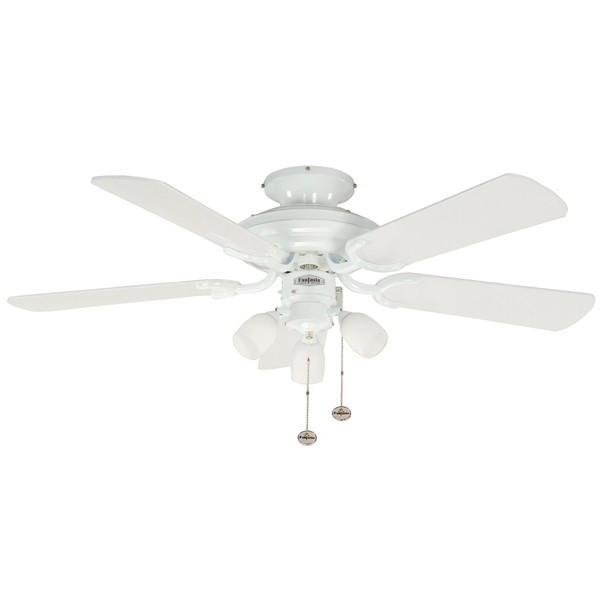 Fantasia Mayfair 42 Inch Pull Cord Gloss White Ceiling Fan