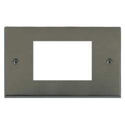 Hamilton Victorian EuroFix Plates Black Nickel Double Plate c/w 3 EuroFix Apertures + Grid