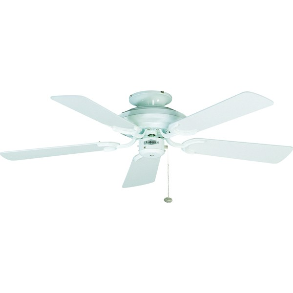 Ceiling Fans With Electrical Cords : Fantasia mayfair inch pull cord gloss white ceiling fan
