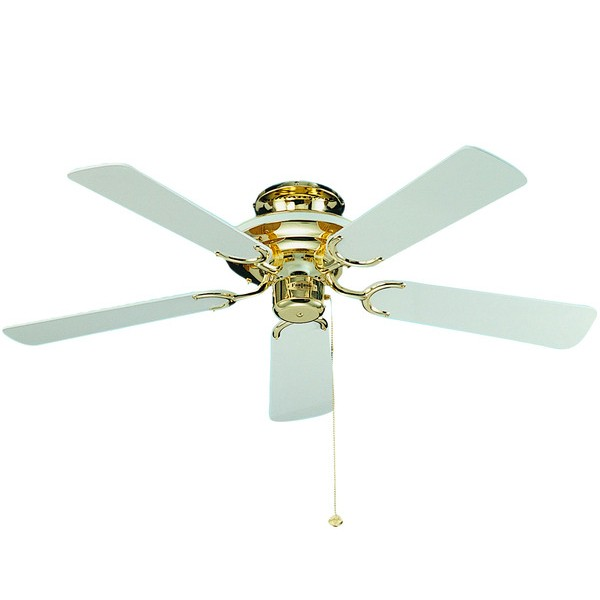 Ceiling Fans With Electrical Cords : Fantasia mayfair inch pull cord polished brass and