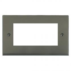 Hamilton Victorian EuroFix Plates Black Nickel Double Plate c/w 4 EuroFix Apertures + Grid