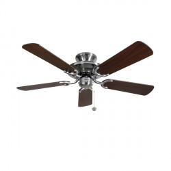 Fantasia Mayfair 42 inch Pull Cord Stainless Steel Ceiling Fan with Dark Oak Blades