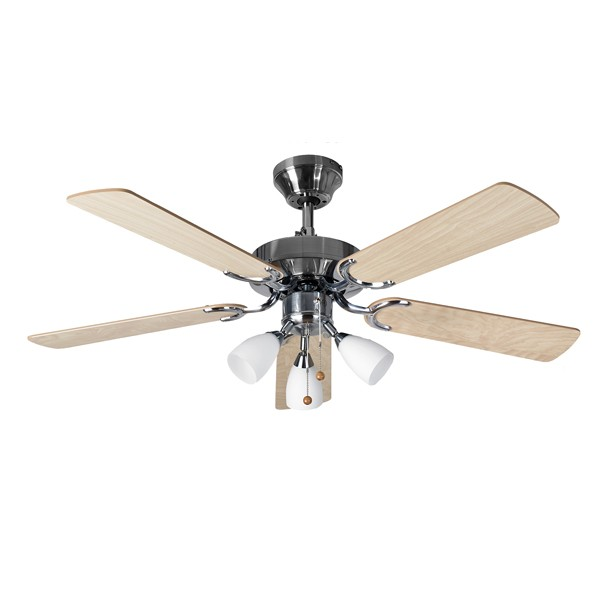 Ceiling Fans With Electrical Cords : Fantasia eurofans genoa inch pull cord stainless steel