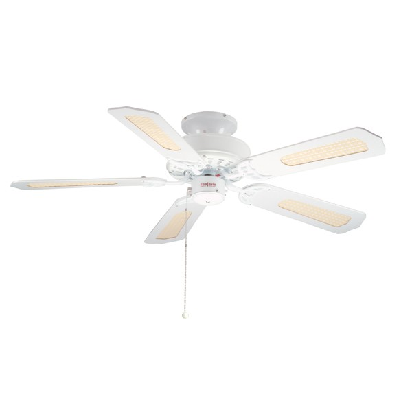 Ceiling Fans With Electrical Cords : Fantasia eurofans belaire inch pull cord white ceiling