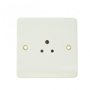 Click Mode Single 2amp White PVC Round Pin Socket