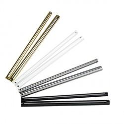 Fantasia Ceiling Fans 27mm Diameter Brushed Aluminium Drop Rod 12 inch