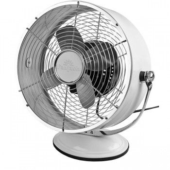 Fantasia Retro Desk Fan in Gloss White
