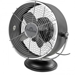 Fantasia Retro Desk Fan in Matt Black