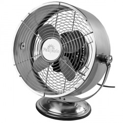 Fantasia Retro Desk Fan in Brushed Nickel