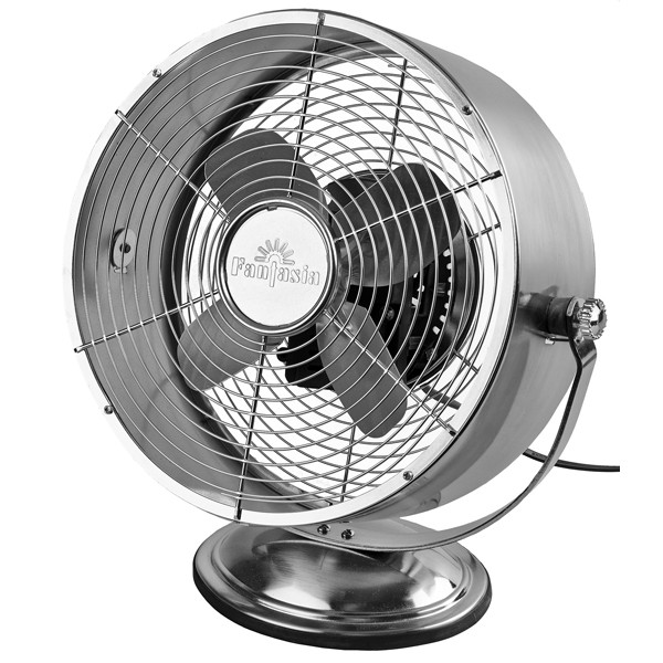 Breathe Fresh Air Choose The Best Tropical Fan: Fantasia Retro Desk Fan In Brushed Nickel At UK Electrical