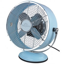 Fantasia Retro Desk Fan in Pale Blue