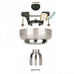 Fantasia Ceiling Fans Drop Mount Conversion Kit in Stainless Steel