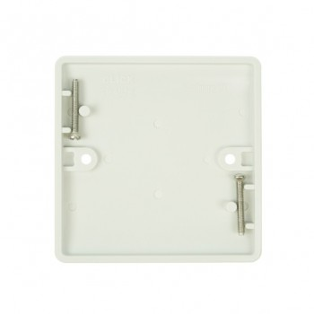 Click Mode Single White PVC Blank Plate