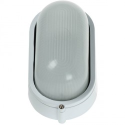 Click Ovia OL400WH 230V IP54 White Oval Bulkhead Light-Plain