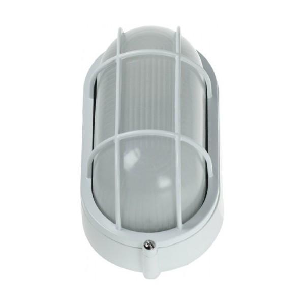 Click Ovia Ol410wh 230v Ip54 White Oval Bulkhead Light Guard