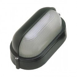 Click Ovia OL420BK 230V IP54 Black Oval Bulkhead Light with Eyelid
