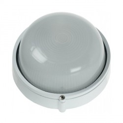 Click Ovia OL405WH 230V IP54 White Round Bulkhead Light-Plain