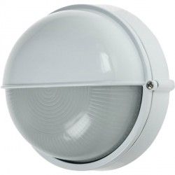 Ovia Barra Round White E27 Bulkhead with Eyelid