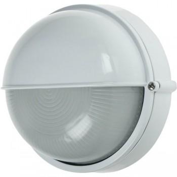 Ovia Barra Round White E27 Bulkhead with Eyelid