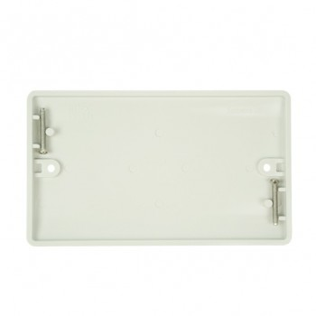 Click Mode Double White PVC Blank Plate