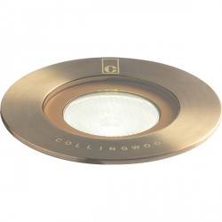 Collingwood Lighting GL016 F AB GREEN 1W Antique Brass LED Ground Light Green