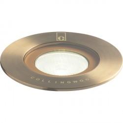 Collingwood Lighting GL016 F AB GREEN 1W Antique Brass LED Ground Light Green