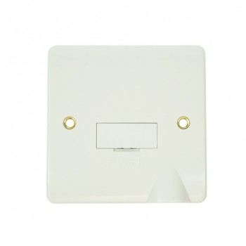 Click Mode White PVC Unswitched Fused Spur with Flex Outlet