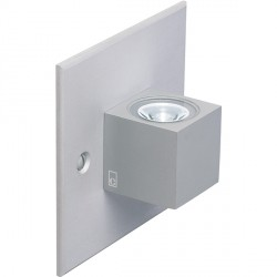 Collingwood Lighting MC015 S BL Straight To Mains Mini LED Cube Wall Light Blue