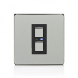 LightwaveRF Chrome 1 Gang 2-Way Slave Dimmer
