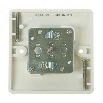 Click Mode Single White PVC Coaxial Socket