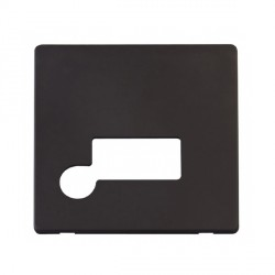 Click Definity SCP150BK Fused Connection Unit with Flex Outlet Cover Plate in Black