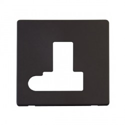 Click Definity SCP151BK Fused Connection Unit with Switch and Flex Outlet Cover Plate in Black