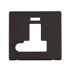 Click Definity SCP152BK Fused Connection Unit with Switch, Flex Outlet and Neon Cover Plate in Black