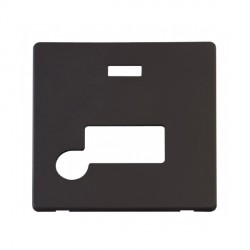 Click Definity SCP153BK Fused Connection Unit with Flex Outlet and Neon Cover Plate in Black