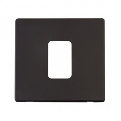 Click Definity SCP200BK 45A 1 Gang Switch Cover Plate in Black