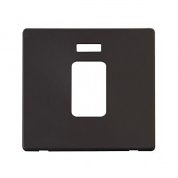 Click Definity SCP201BK 45A 1 Gang Switch with Neon Cover Plate in Black