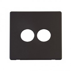 Click Definity SCP222BK 2 Gang Toggle Switch Cover Plate in Black