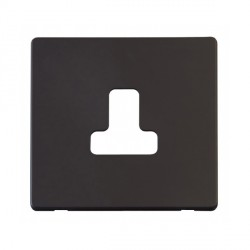Click Definity SCP238BK 5A Round Pin Socket Outlet Cover Plate in Black