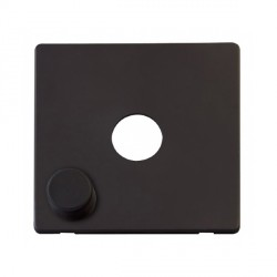 Click Definity SCP241BK 1 Gang Dimmer Switch Cover Plate in Black