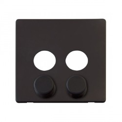 Click Definity SCP242BK 2 Gang Dimmer Switch Cover Plate in Black