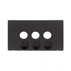 Click Definity SCP243BK 3 Gang Dimmer Switch Cover Plate in Black